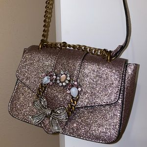 Shimmery lavender purse